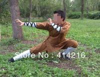 high quality shaolin Monk robe Tai chi uniforms Martial arts kung fu suits  slub cotton high quality 4pcs/sets cool