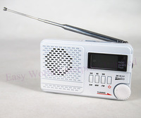 FM1/FM/MW/SW1 4 bands Radio Receiver Stereo Speaker Antenna USB/TF MP3 Clock White