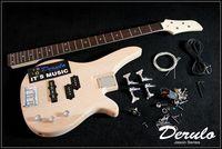 DIY Electric Bass Guitar Kit  Bolt-On  Solid Mahogany Body MX-030