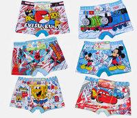 Cartoon, multi-style boy underwear, cotton underwear quality, free shipping