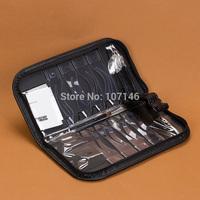 Permanent Makeup Eyebrow Stencil Kits 8 Design 1 Pen & Leather Frame Hot