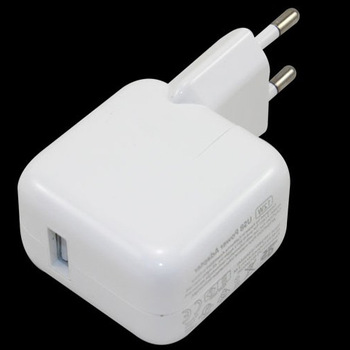 EU 12W White USB Power Adapter & Wall Charger Replacement for iPhone 4 5 Apple iPad 1pcs/lot Free Shipping