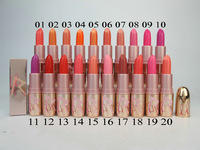 20pcs/lot Makeup Rihanna RiRi Hearts Lipstick / Lip Balm!3g 20 different colour with English name!!Free shipping!