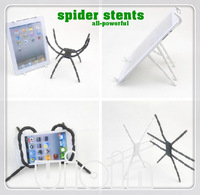 Free shipping 2013 Newest fashion white/Black all-powerful spider stents/phone holder for all mobile phone support wholesale