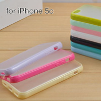BONWES Hybrid Gummy PC/TPU Slim Protective Case for iPhone 5c + screen protective film