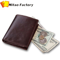 2013 Best Birthday Luxury  Italy Vegetable Cowhide Leather Purse Gift  With Coin Bag Wallet Card Holder Free Shipping