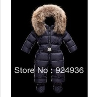 Free shipping Baby Conjoined Eiderdown Cotton Thickening Jumpsuit Climb Clothes, The Clothes Boy And Girl Neonatal Winter Coat