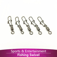 100pcs/lot MS+SS 6# fishing gear accessories Connector copper swivel ROLLING SWIVEL WITH SAFETY SNAP  fishing lure tackle