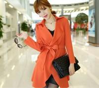 Women Plus Size Fashio Out wears Long Sleeve Thin Coat Shirts Ladies Tops Size M L XL XXL Free Shipping
