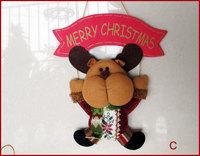 "3PCS Christmas Wall Hanger 11"" Snowman Merry Christmas Hanging Decor Santa Tree Ornament Christmas Gifts FELIZ NAVIDAD"