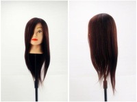 """22"""" Style Long Hair Hairdressing Training Practice Mannequin Head w/Clamp"""