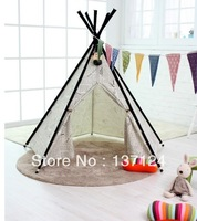 Children play tent cotton solid environmental protection Teepee
