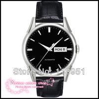 2014 Original High quality Swiss automatic mechanical watches sapphire belt business men watch double calendar waterproof T