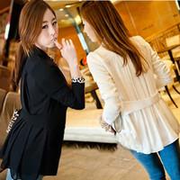 2013 Fashion Women Girls Slim Back Chiffon Suit Stylish Lay Jacket Blazer
