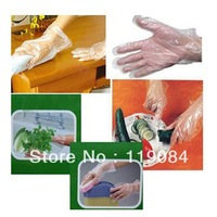 Free DHL NEW 100 PCS/bag Convenient Restaurant Home Service Plastic Transparent Disposable Gloves disposable plastic gloves