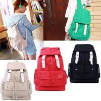 Fashion Women Girl Casual Canvas Shoulder Backpack School Bag Satchel Bookbag