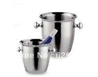 18/8 Stainless Steel Specular Light Ice Bucket Fashion Champagne Bucket Red Wine Beerbarrel D225*H210MM Beer Bucket Wine Bucket