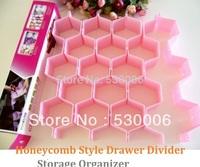 8pcs/set Honeycomb Style Plastic Tidy Drawer Divider Storage Partition Organizer,Sock Underpant Closet Clapboard