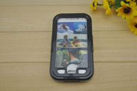 Wholesale Waterproof phone Case Shock Dirt Proof Cover with Retail Package for Samsung Galaxy S4 i9500 Free Shipping
