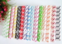 FREE SHIPPING 10000pcs Environmentally Multicolor stripes Colorful Drinking Paper Straws for party favor Wholesale