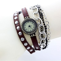 Sell like hot cakes! Restoring ancient ways punk leather watch ladies watch fashion and personality