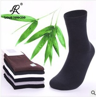 5 pairs/lot FREE SHIPPING business casual men socks solid color summer Bamboo fiber socks Breathing socks Retail