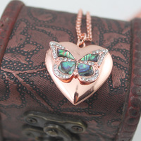 Min.order is $15(mix order) Butterfly necklace chain short design box female fashion  Free Shipping
