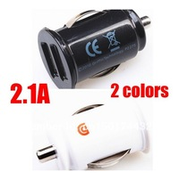 Free shipping Retail Hot sale car charger For IPhone 5 5G 4S for IPad 2 3 4  2.1A  Dual Double USB Car Charger