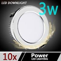 10pcs Led anti fog downlight 2.5-inch full 3w  85-265V 8 cm in the living room ceiling spotlights Ceiling bathroom wall lamp