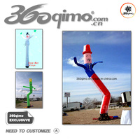 1 leg Cool design advertising inflatable air dancer