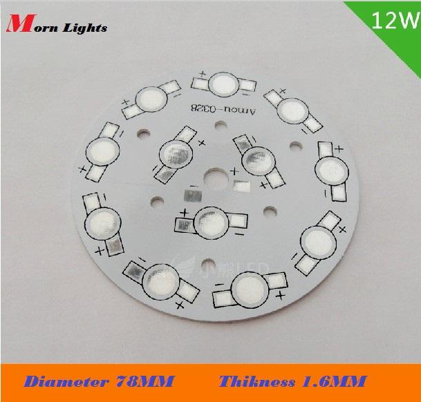 12w Diameter 78mm PCB aluminum plate 12w LED Aluminum PCB High power beads LED circuit boards aluminum base plate(China (Mainland))