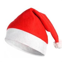 Free shipping 2014 New 10PCS/Lot Christmas hat headwear Decorations Santa Claus cap ornament xmas gift