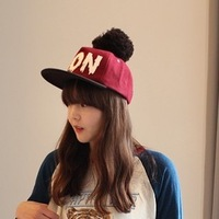 2013 hat letter non yarn ball hiphop woolen baseball cap