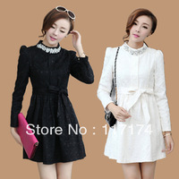free shipping Clothes women's ladies elegant rhinestone slim autumn elegant princess one-piece dress