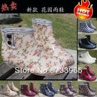 2013 new fashion women boots rain boots wellies Lady Girl transparent woman water shoes rainboots overshoes galoshes candy color