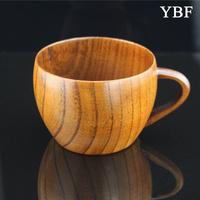 bowl shape coffee mug Health Elegant Anti-hot Wooden Wild jujube wood Mugs cute travel gift tea cup green coffee tureen sets