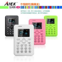 Factory Sale ALEK V8  Mini Card Phone AIEK V8 Cell phone MP3 FM Player Bluetooth music phone Can  TF 4G  Russian