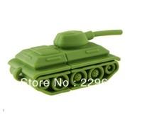Free Shipping, New Cartoon Green Tank USB 2.0 Memory flash stick pen thumbdrive, Wholesale, usb flash drive 1-32GB