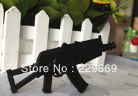 Free Shipping, Cartoon New Fashion Black Gun Toy Model usb 2.0 memory flash stick usb flash drive 1-32GB, Wholesale