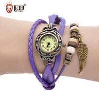 Bracelet ladies watch the trend of fashion women's quartz watch genuine leather handmade watches gift present  free shipping