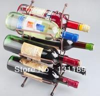 Coral wrought iron wine rack  home pendulum European Investment Wine Bar Wine metal  bar rack wine holders stainless bar