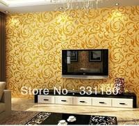 10M Modern wallpaper  waterproor Vinyl  wall paper roll  living room  valentine room decorations china supplier,free ship