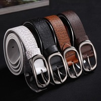 Sell by Lot(4pcs)! 2013 Vintage Men Causal Leather Belt Fashion Men's leather belts Man's belt