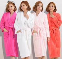 New 2015 Winter Pyjamas Couple Pijamas Women's Robe Men's Pajamas Sleepwear Nightdress Nightgown Bathrobe Free Shipping A0224