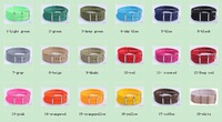 20MM Pure color Patchwork Watchband Nylon Strap Watch Straps 18color available