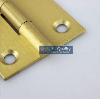 Free Screws 10PCS/Lot Door Hardware Beautiful Wire Drawing 1.5 Inch (38MM) Long Solid Brass Door Hinge, Solid Brass Hinges