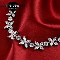 Joyme brand New 2014 Exquisite Noble Platinum Plated bracelet Top Quality Zircon Bracelet Female Gift bracelets & bangles