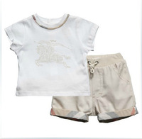 baby summer set short pant with t-shirt 100% cotton with elaster soft summer sets unisex brand