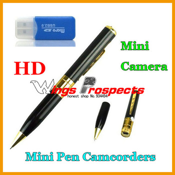 Mini Pen Camera DVR Camcorder HD Video Support Max 16GB TF Card + Memory Card Reader Free Epack!