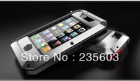 Brand Waterproof Dropproof Dirtproof Shockproof Taktik Aluminum Case for iPhone 4 4S Back Metal Cover with Retail Packaging